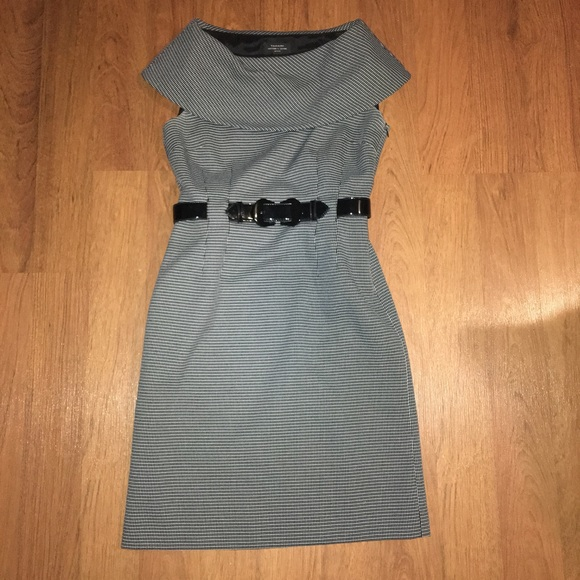 1565f9e9df7a Tahari Dresses | Arthur S Levine Gray Plaid Cowl Neck | Poshmark